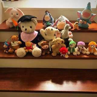 🚚 Graduate bear NUS, teddy bears, Eeyore, rabbits, elephants soft toys