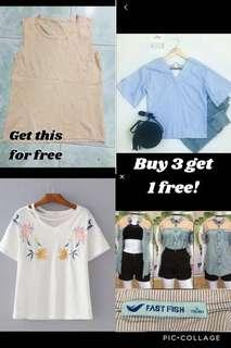 Buy 3 Get 1 Free for Php299 only!