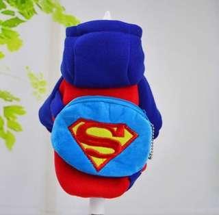 Superman Pets Dogs Cats Costumes Clothes K-Pop Korean