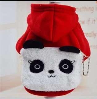 Cute Panda Pets Dogs Cats Costumes Clothes K-Pop Korean