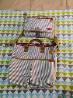 Skiphop Limited Edition Stripe Diaper Bag