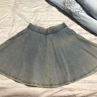 Topshop Denim Circle skirt