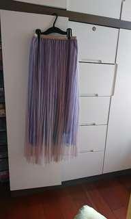 100%new 全新紫粉色裙(60包平郵)