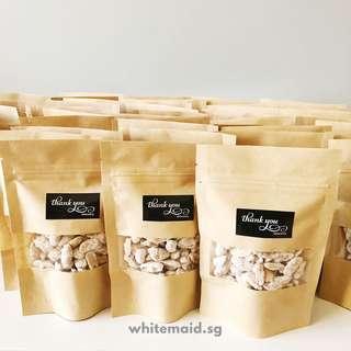 Sugar Coated Peanuts (Kacang Puteh) In Mini Kraft Packs