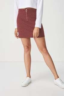 Gwen zip mini skirt (Size L)