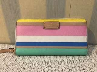 Original Kate Spade wallet stripes