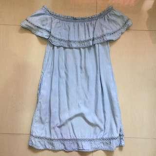 Denim Offshoulder Dress
