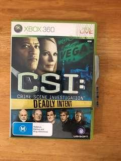 CSI Season 9 : Deadly Intent for Xbox 360