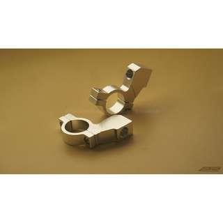 Universal 10mm Motorcycle Side Mirror Bracket / Mount / Holder / Bracket / Adapter 1 pair (Silver)
