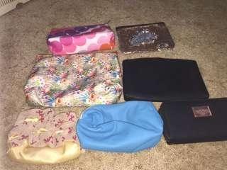 Makeup bags, clutch all bags
