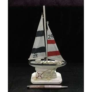 Wooden sailing boat model