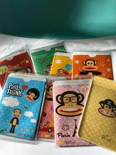 8 pieces of Paul Frank Plastic card holders
