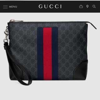Gucci GG Supreme Men Pouch Portfolio d0fa7f0098