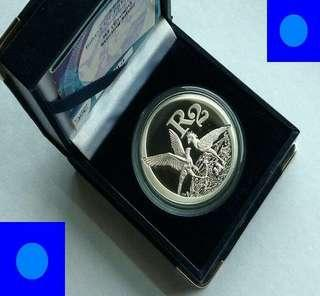 ♦ South Africa R2 Rand - 2006 Birds of Prey. 1 Oz+ Troy (999) Fine Silver Proof coin