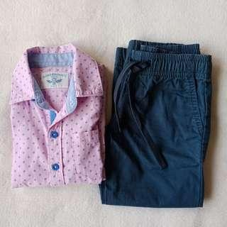 Gingersnaps Polo and Jogger Pants, 2T