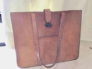BREE vintage tote calf skin real leather