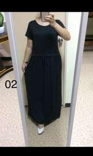 BLACK MAXI DRESS (XL-3XL)