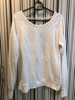 F21 white sweater with open back (w/ cut tag)
