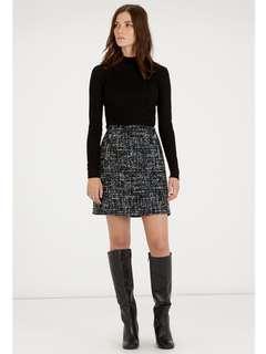 Warehouse Sequin Tweed Skirt