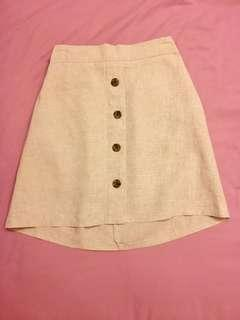 Button down Skirt in Beige/ Tan/ Cream