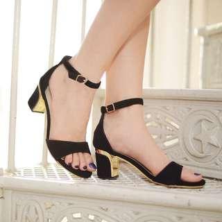 Basic Black Heels By Buckle Up INSTOCK 35-39