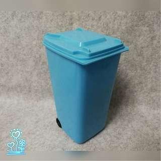 Blue small size plastic dustbin