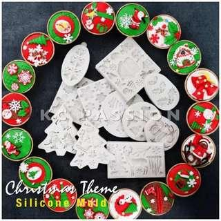 🎄 CHRISTMAS THEMED SILICONE MOLD [Xmas Tree • Reindeer • Snowman • Gingerbread Man • Wreath • Balls • Gift • Santa Claus • Pine Cones • Holly Leaves • Socks • Icicle • Snowflakes • Sleigh • Bell ]