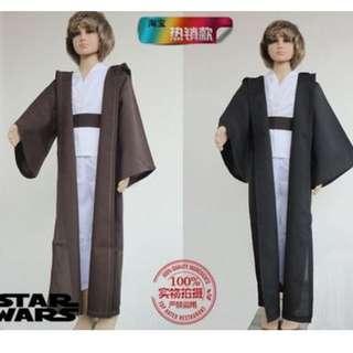 star wars halloween costume robe for boy kid 4-9yrs old