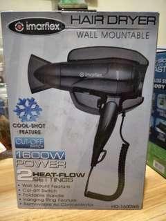 Imarflex hair dryer wall mountable