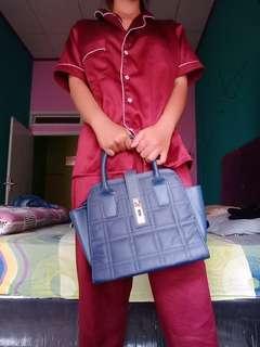 Bags tas navy kulit