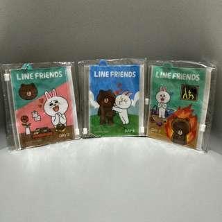 全新LINE FRIEND 熊大 兔兔 防水夾鏈袋 錢包 零錢包 可指定款式 台北捷運可面交