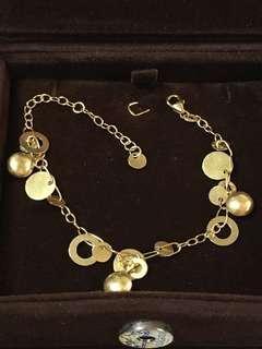 義大利製🇮🇹18K黃金750環環相扣造型手鍊