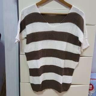 Sweater stripes rajut