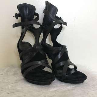 Balenciaga Black Strappy Heels