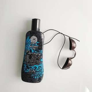 New Australian gold tanning bed lotion and goggles