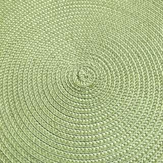 6pieces Set of Green Round Placemat