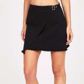 Black denim alice in the eve skirt general pants size 8