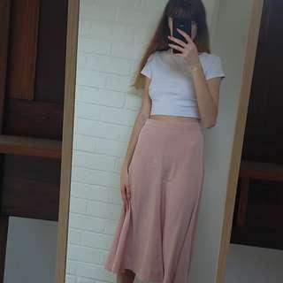WEEKDAY dusty pink skirt