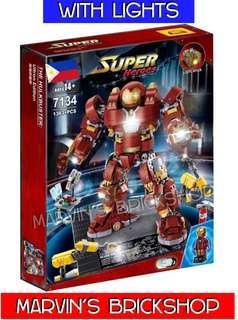 DCEOOL 7134 Avengers UCS Age Of Ultron Iron Man Hulkbuster w/ Lights