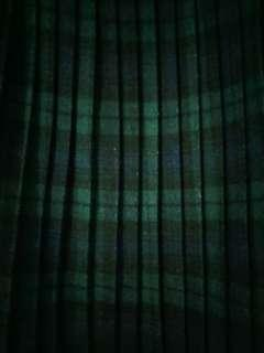 Vintage Scottish style plaid long skirt