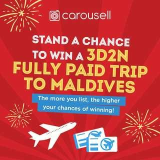 Stand to win a 3D2N, all-expense paid trip to Maldives