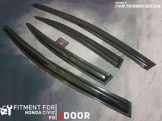 Window Door Visor Wind Deflector For Perodua Honda Civic FD