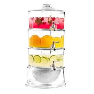 3-tier ice core beverage dispenser