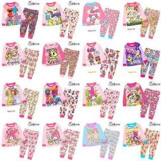 Kids Pyjamas pj girl 1-7yrs old