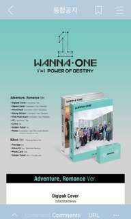[SG PO] WANNA ONE POWER OF DESTINY