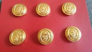 海軍金屬鈕(大) 共六粒