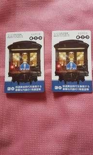 日本鉄道博物館紀念票兩張
