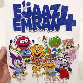 ✔️ Personalized cake topper - Babies muppets