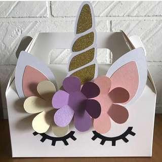 customize goodie bag / party bag / door gift / goodie box - unicorn