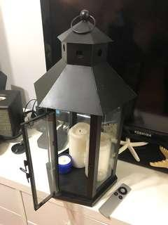 Black indoor / outdoor lantern
